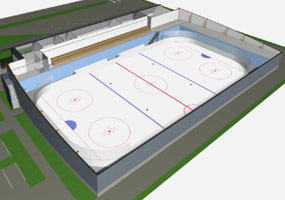IIHF - Practice Arena with one ice Surface
